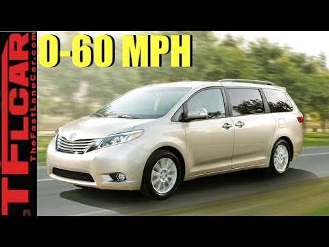 2017 Toyota Sienna Minivan 0 60 Mph Review How Fast Is The