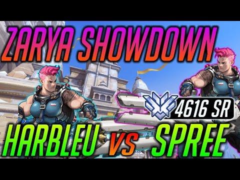 [Overwatch] Zarya Showdown! HARBLEU vs. SPREE 4616 SR