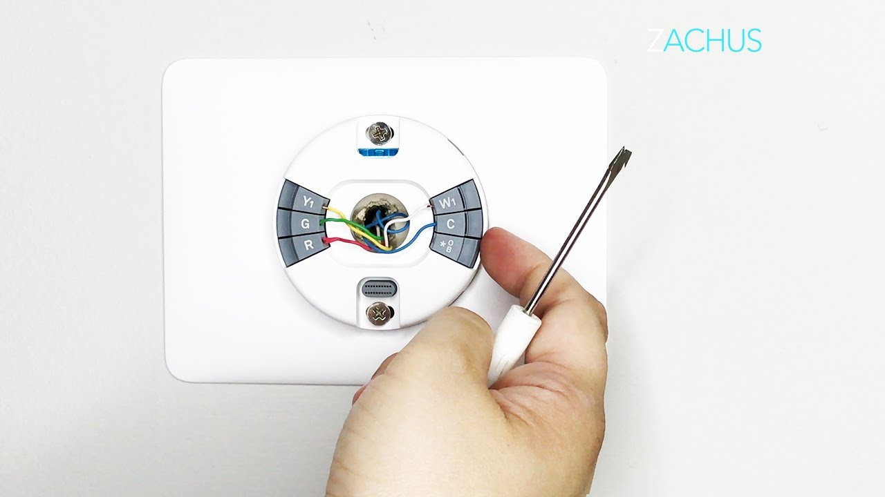 step by step install of the new nest thermostat e [ 1280 x 720 Pixel ]