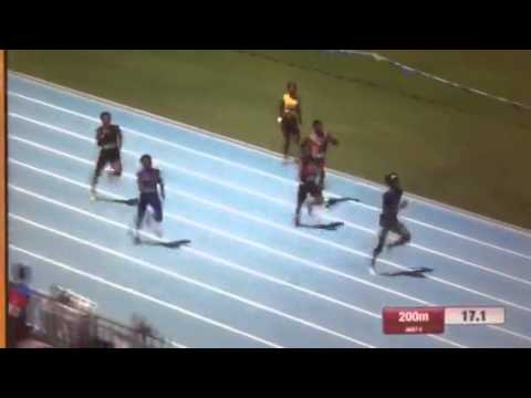 Micah Williams 200meter National video 2015