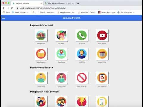Cara Memulai Aplikasi Ppdb Online Kabupaten Ogan Ilir Untuk Operator Atau Admin Sekolah Youtube