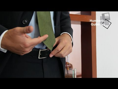 Donde debe llegar la corbata | Humberto Guti�rrez