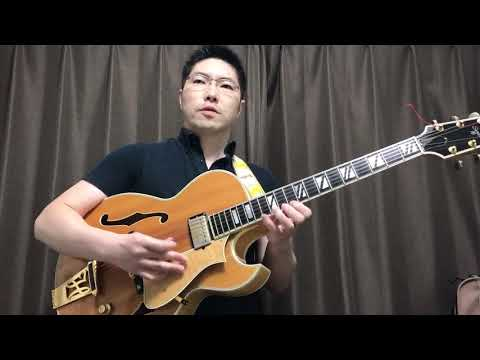 """脳梗塞後3週間目のジャズギター Miles Davis """"Four"""" Heritage Sweet16 jazz guitar, no amps"""