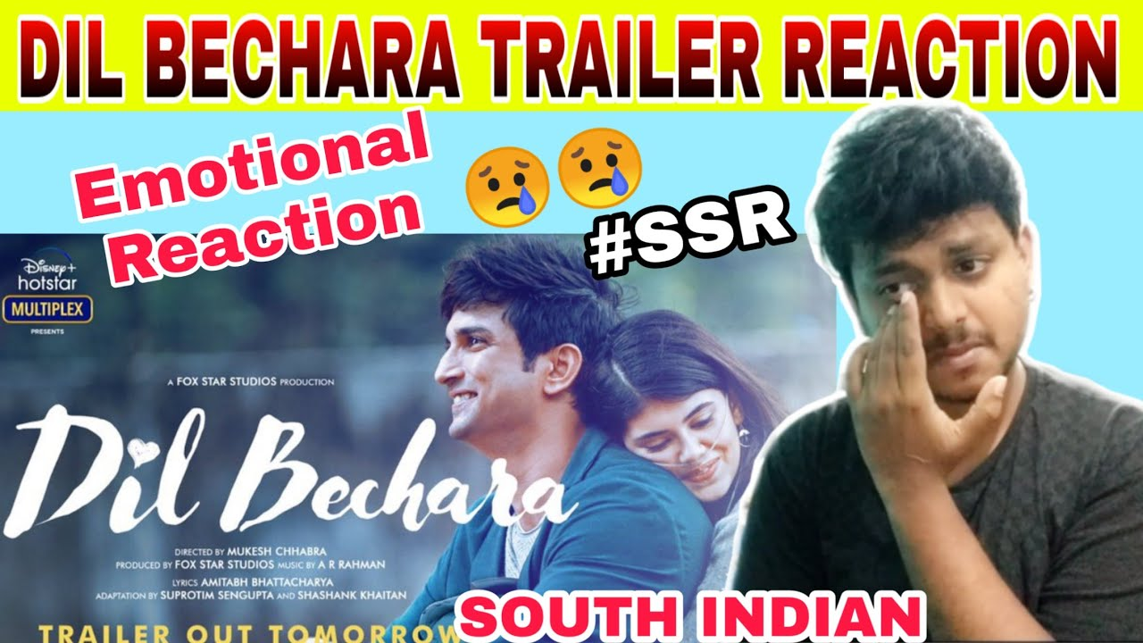 Dil Bechara Official Trailer Reaction   South Indian   Sushant Singh Rajput   Dil Bechara   Reaction