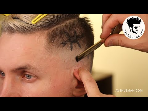 new-tattoos-appear-during-shaved-sides-men's-haircut-/-avenueman.com