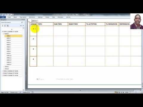 Making Scheme of Work Using a Template
