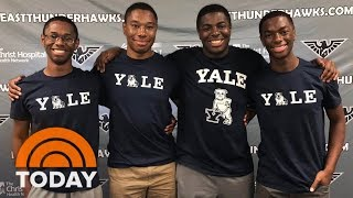 Ohio's Wade Quadruplets Start Their Freshman Year At Yale | TODAY