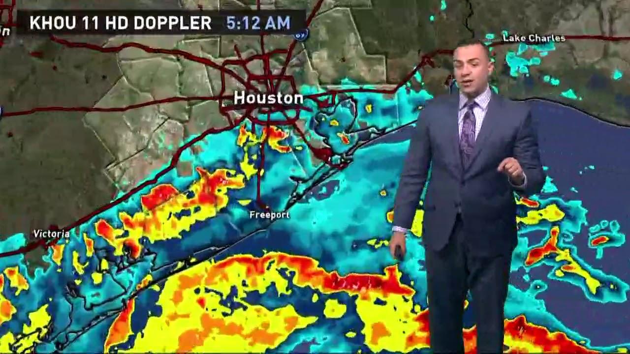 Khou Weather Map.Houston Forecast Hurricane Harvey Update 5 15 A M Friday Youtube