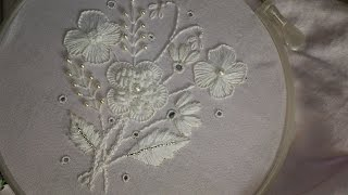Bordados – Trabalho de bordado branco – Tutorial de bordados