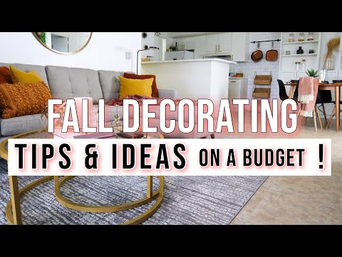 Small Apartment Fall Haul + Makeover   Fall Decorating TIPS & IDEAS