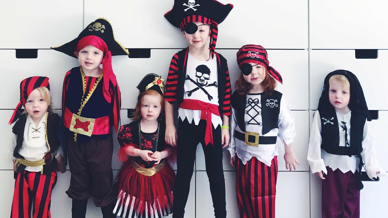 Kids Halloween Pirate Costume Dress Up!  sc 1 st  YouTube & Kids Halloween Pirate Costume Dress Up! - YouTube