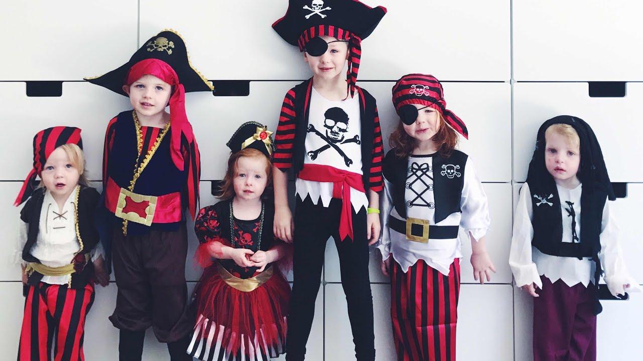 Kids Halloween Pirate Costume Dress Up!  sc 1 st  YouTube & Kids Halloween Pirate Costume Dress Up! - YouTube