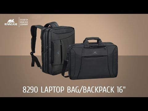 """Rivacase Central 8290 Τσάντα Ώμου / Χειρός για Laptop 16"""" σε Μαύρο χρώμα"""