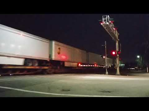 NS 240 West Bound UPS trailer train makes an appearance on track two
