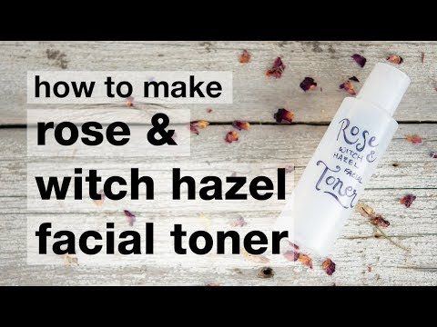 How to Make DIY Rose Witch Hazel Toner
