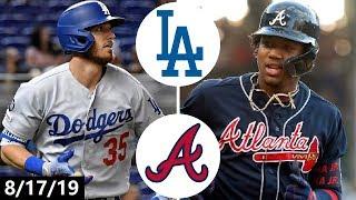 Los Angeles Dodgers vs Atlanta Braves Highlights | August 17, 2019 (2019 MLB Season)