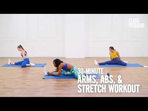 30minute no equipment arms and abs workout  youtube