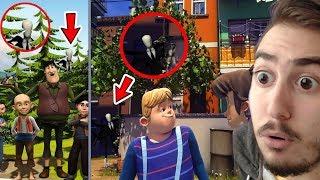 Çizgi Filmlerde Yakalanmış SLENDERMAN Görüntüleri - (şok olacaksınız)