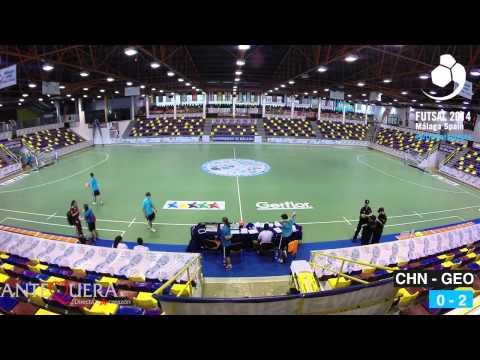China - Georgia, Males lower ranking final (13th - 14th position) - WUC Futsal 2014