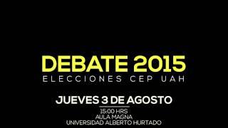 Promo Debate Periodismo UAH 2015