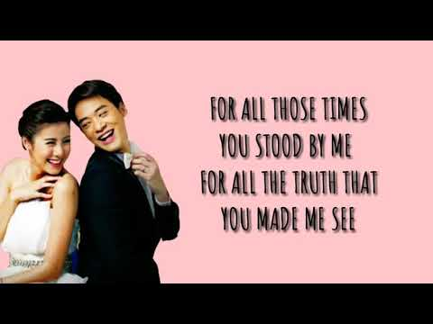 Because You Loved Me (LYRICS)