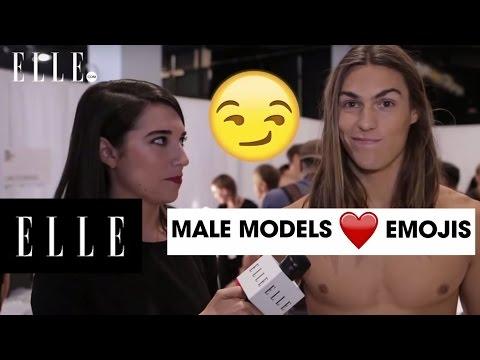 Male Models Do EMOJIs   ELLE