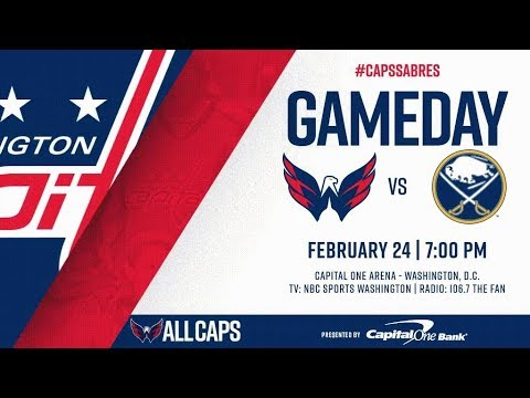 NHL 18 PS4. REGULAR SEASON 2017-2018: Buffalo SABRES VS Washington CAPITALS. 02.24.2018. (NBCSN) !