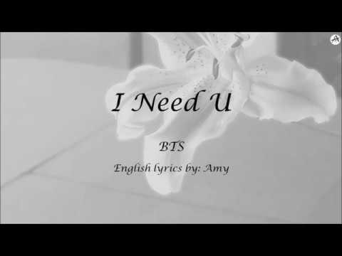 I Need U - English KARAOKE - BTS