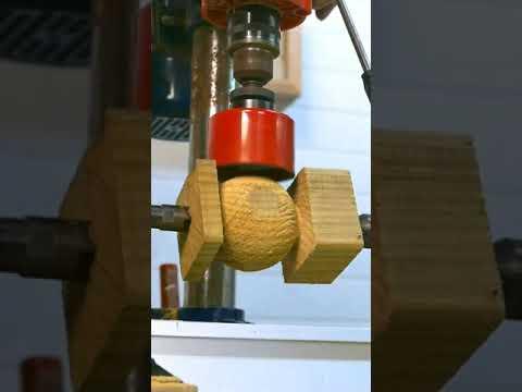 Download 🔥 Cómo hacer bolas de madera en el torno. Increíble #shorts