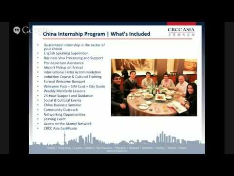 Marketing Internships in China - CRCC Asia