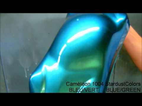 colorshift car paint Blue Green