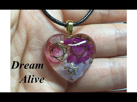 Resin Art Jewelry 레진아트 - 말린꽃들로 목걸이 만들기 Making a Necklace with Dried Flowers