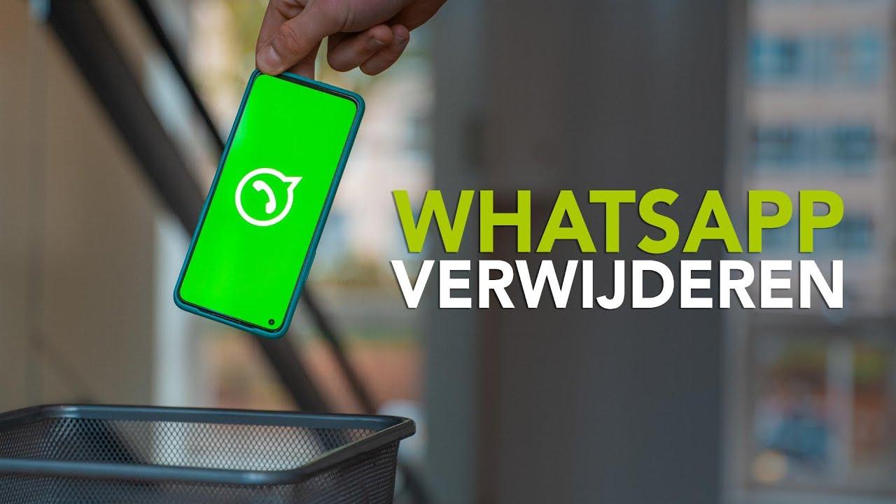 Tip: zo verwijder je je WhatsApp-account of een heel gesprek