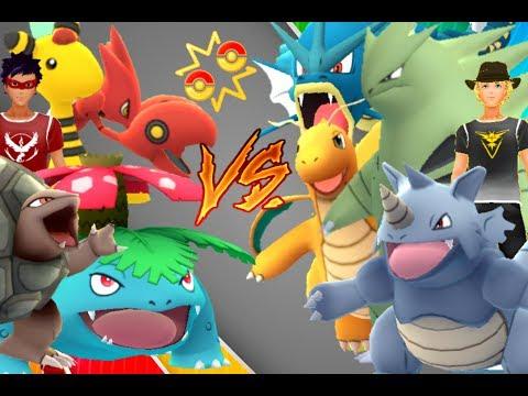 Pokémon GO Gym Battles Level 8 Gym Ampharos Venusaur Scizor Tyranitar Golem Lapras & more