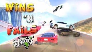 GTA V Racing WINS & FAILS #5 [Cunning Stunts]