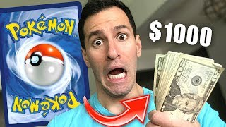 Giving $1000 To #TeamTrees If I DO NOT Pull This Pokemon Card!