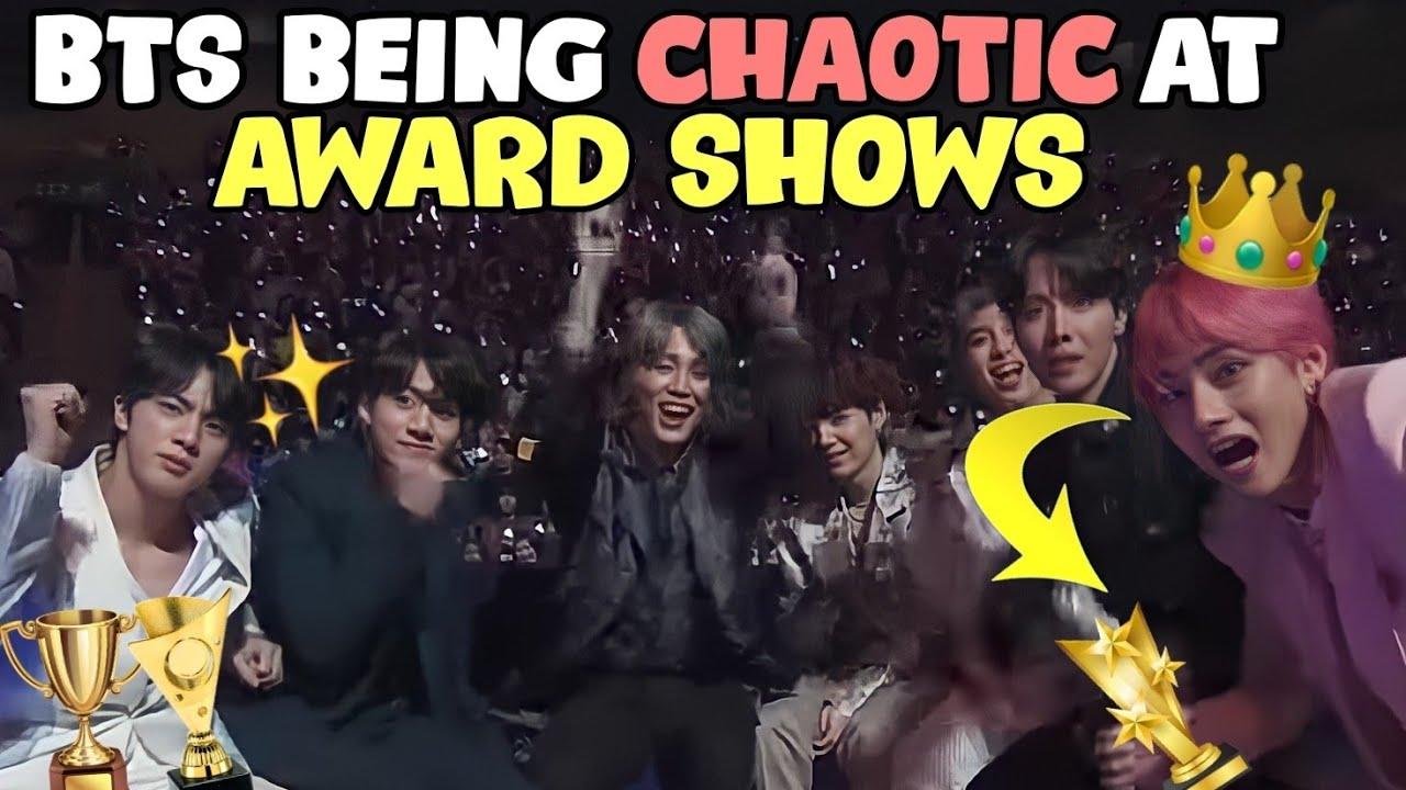 bts at award shows = it's chaos time! (bts funny moments at award shows)