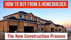 How to buy a home from a home builder. The new construction process. How to Build a home. New Homes.