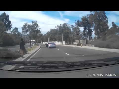 Woman Jumps Out Of Moving Car | California