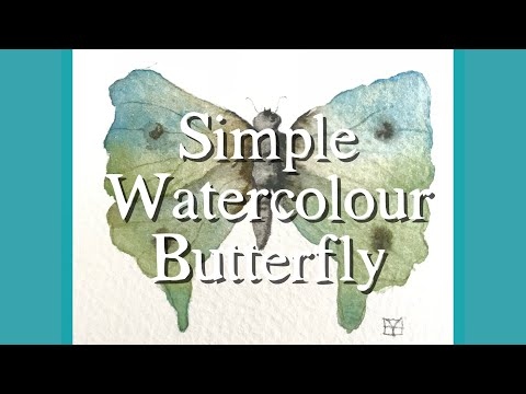 Watercolour Wednesdays: A Simple Butterfly