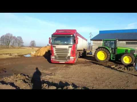 Wpadka John Deere 6630 Premium &Scania R 420