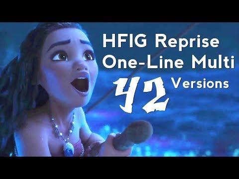 How Far I'll Go (Reprise) 42 Versions | One-Line Multilanguage | Moana / Vaiana