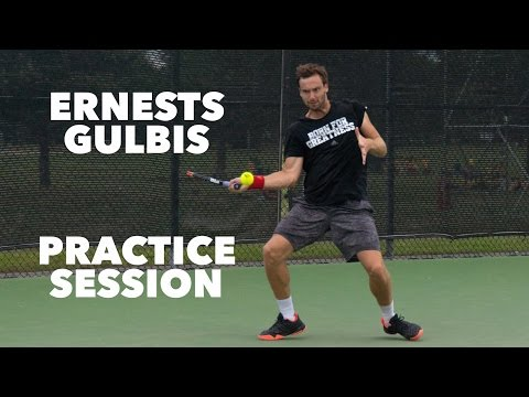 Ernests Gulbis Giving It All In Training