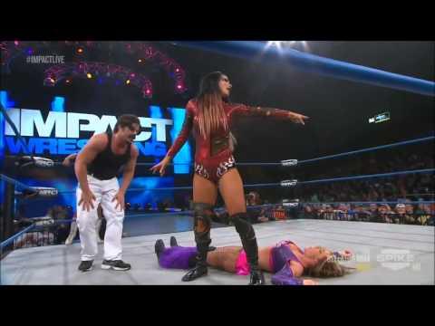 Impact Wrestling 04/04/2013 Tara & Gail Kim vs Velvet Sky & Taryn Terrell