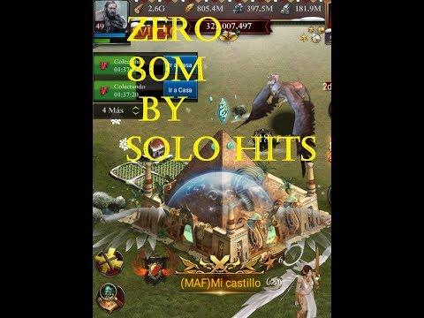 Clash Of Kings Zero 80M Castle By Solo Attacks