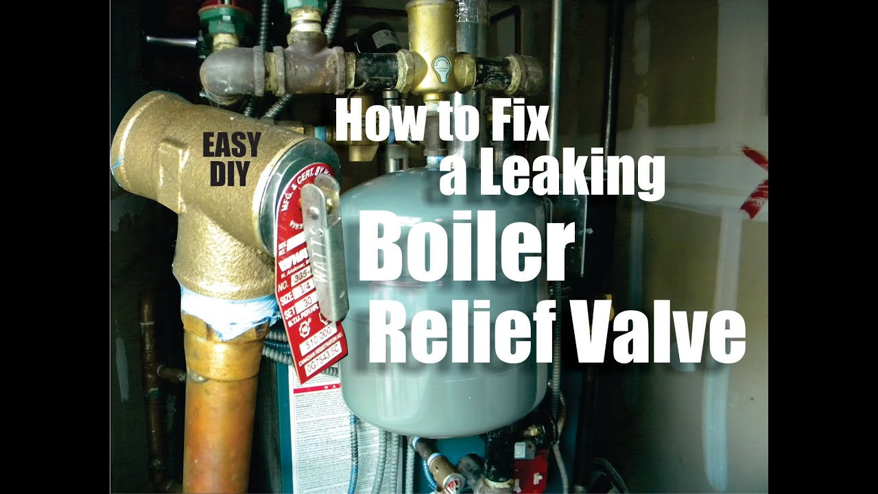 How To Repair A Leaking Boiler Relief Valve Easy Diy Youtube
