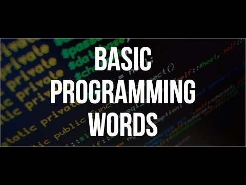 Programming Words You Should Know
