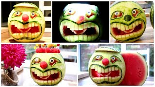 Fruits Cutting Skills / Watermelon Face Carving
