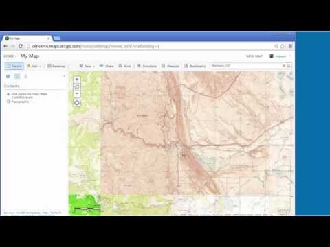 Accessing and using Historical USGS Topographic Maps in ArcGIS Online