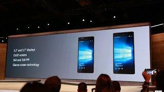 Microsoft announces the Lumia 950 XL, Lumia 950 and Lumia 550